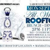 All White Rooftop Brunch + Dinner