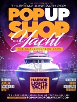 POP UP SHOP ON A YACHT