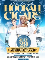 HOOKAH -N- CIGARS ALL WHITE YACHT PARTY